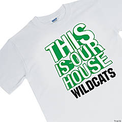 Personalized Medium White Team Spirit Shirt - This Is Our House