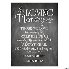 Personalized Memorial Printed Chalk Sign