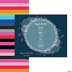 Personalized Menu Placemats