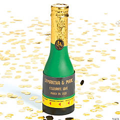 Personalized Mini Champagne Bottle Confetti Poppers