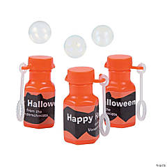 Personalized Mini Halloween Bubble Bottles