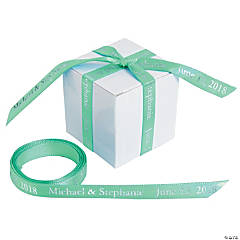 Personalized Mint Green Ribbon - 3/8