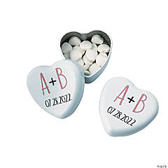 Personalized Modern Simple Heart Mint Tins