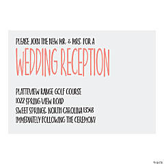 Personalized Modern Simple Reception Cards