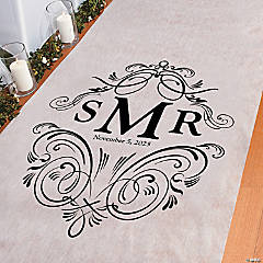 Personalized Monogram Flourish Aisle Runner