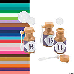 Personalized Monogram Gold Mini Bubble Bottles