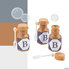 Personalized Monogram Mini Bubble Bottles