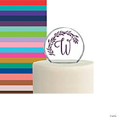 Personalized Monogram Round Cake Topper