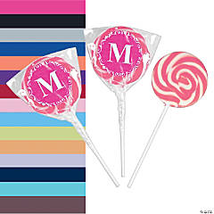 Personalized Monogram Swirl Lollipops