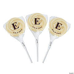 Personalized Monogram Swirl Pops - Diamond & Pearl