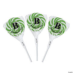 Personalized Monogram Swirl Pops - Green
