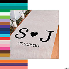 Personalized Monogram Typewriter Initials Aisle Runner