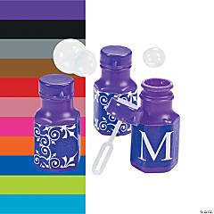 Personalized Monogram Wedding Mini Bubble Bottles