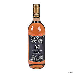 Personalized Monogram Wine Bottle Labels