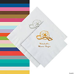 Personalized Movie Night Beverage or Luncheon Napkins