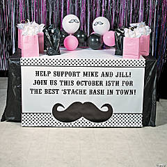 Personalized Mustache Table Runner