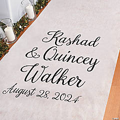 Personalized Names Aisle Runner