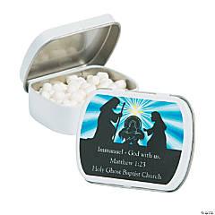 Personalized Nativity Mint Tins