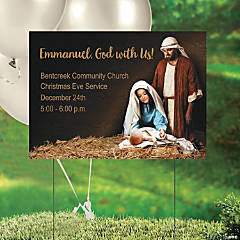 Personalized Nativity Yard Sign