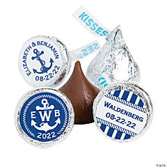 Personalized Nautical Hershey's® Kisses® Stickers