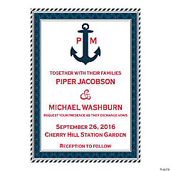 Personalized Nautical Wedding Invitations