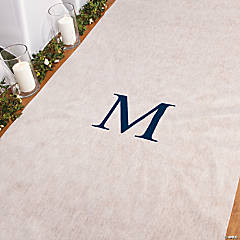 Personalized Navy Monogram Aisle Runner
