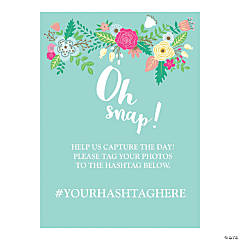 Personalized Oh Snap! Hashtag Wedding Sign