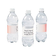 Personalized Ombre Pattern Water Bottle Labels