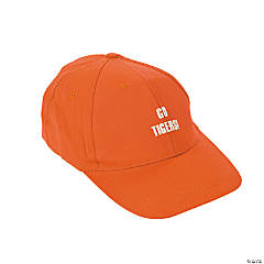 Personalized Orange Baseball Caps