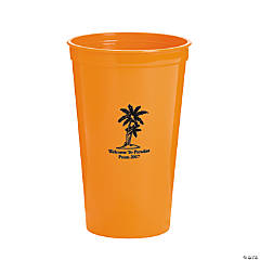 Personalized Orange Luau Tumblers
