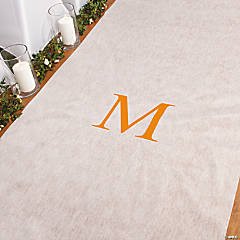 Personalized Orange Monogram Aisle Runner
