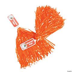 Personalized Orange Pom-Poms