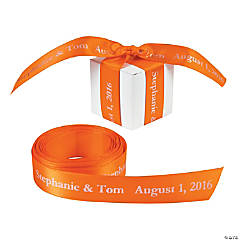 Personalized Orange Ribbon - 3/4