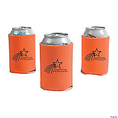 Personalized Orange Shooting Star Can Covers