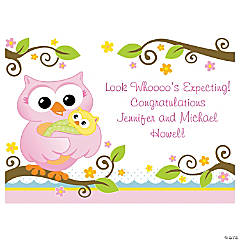Personalized Owl Baby Shower Yard Sign