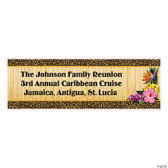 Personalized Paradise Safari Banner - Medium