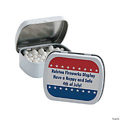 Personalized Patriotic Mint Tins