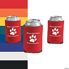Personalized Paw Print Can Coolers