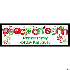 "Personalized ""Peace on Earth"" Banner - Small"
