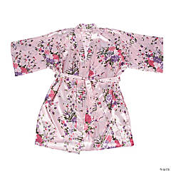 Personalized Pink Floral Robe