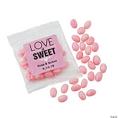 Personalized Pink Jelly Bean Fun Packs