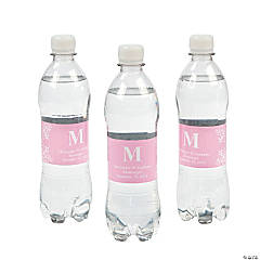 Personalized Pink Monogram Bottle Labels
