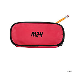 Personalized Pink Pencil Case - Script Initials