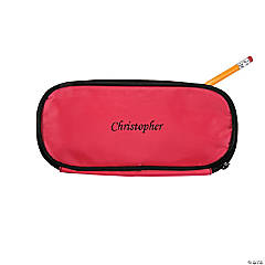 Personalized Pink Pencil Case - Script Name