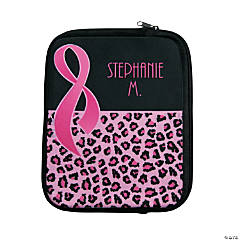 Personalized Pink Ribbon Tablet Case