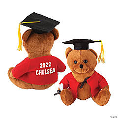 Personalized Plush Graduation Bear - Red