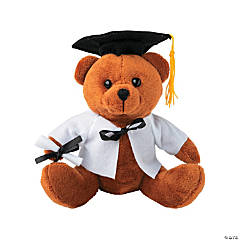 Personalized Plush Graduation Bear - White