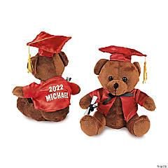 Personalized Plush Graduation Bears