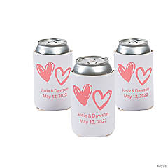 Personalized Premium Neoprene Hearts Can Covers
