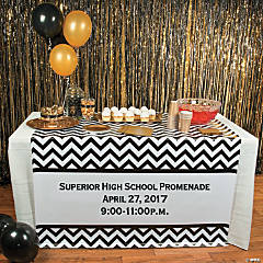 Personalized Prom Table Runner